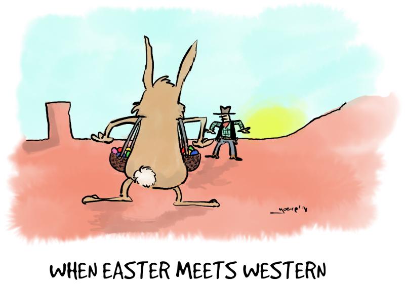 2014-04-16 easter meets western