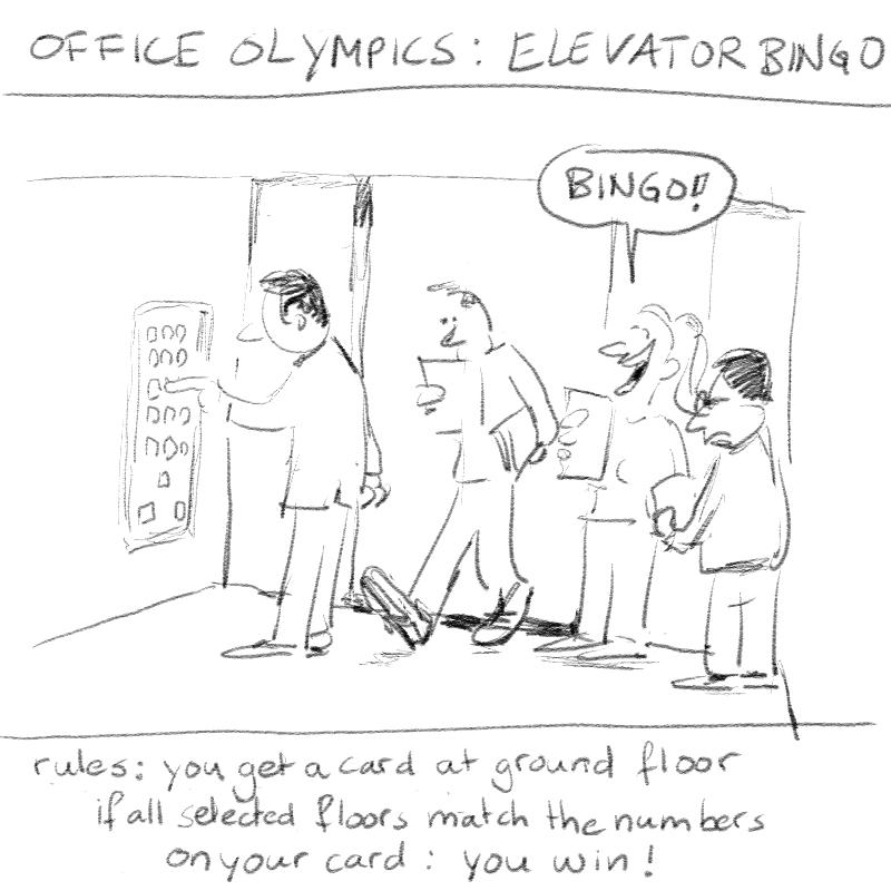 elevator bingo